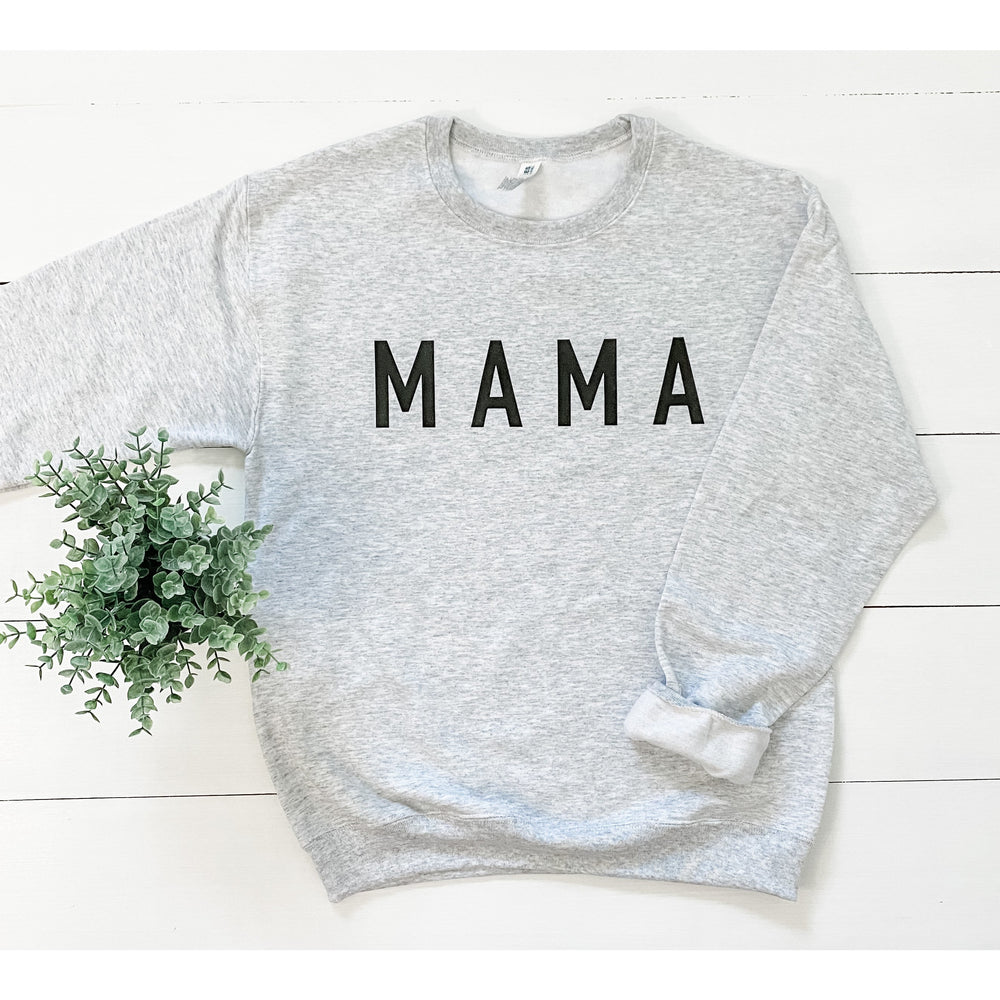 Mama Sweatshirt in Light Gray