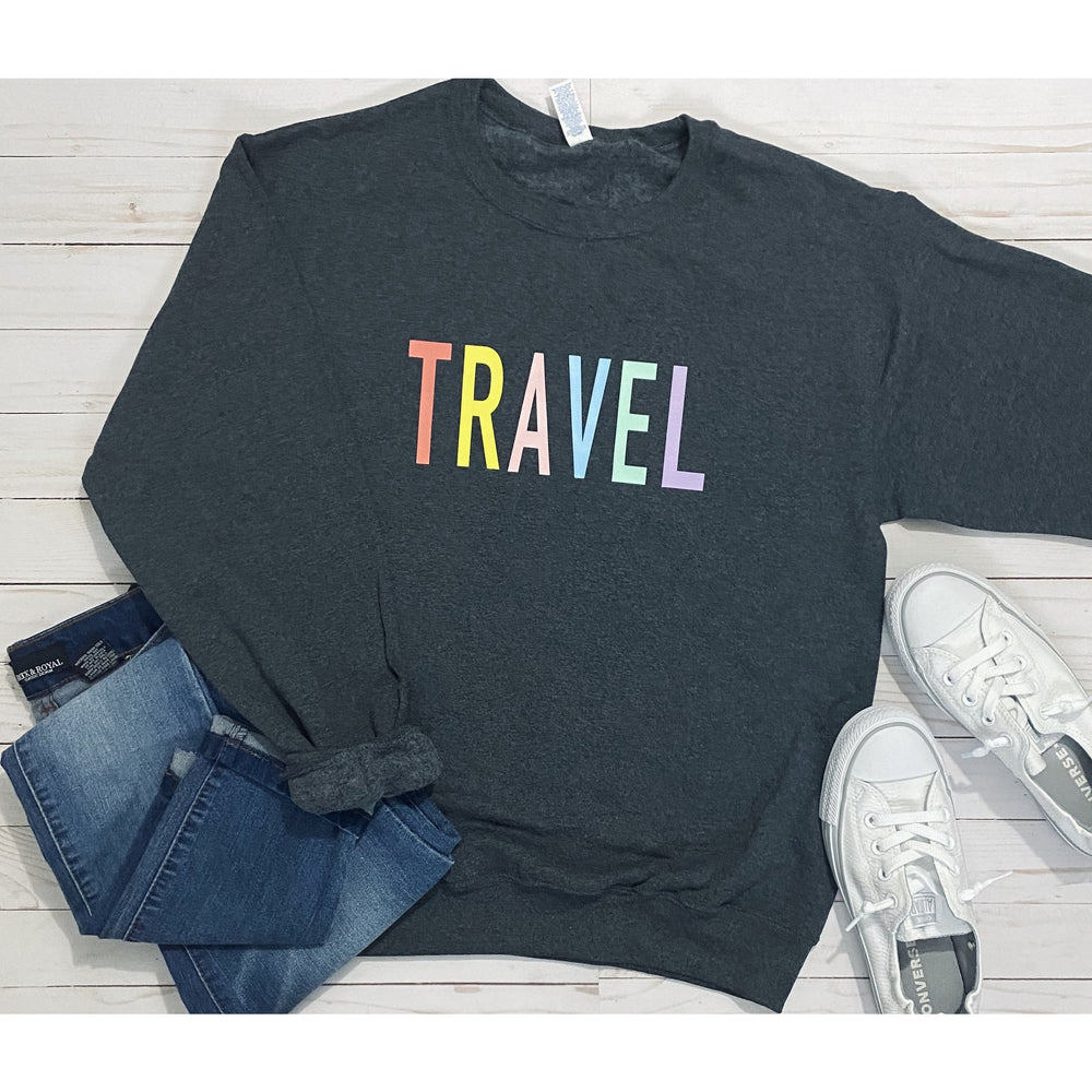 Travel Sweatshirt in Charcoal