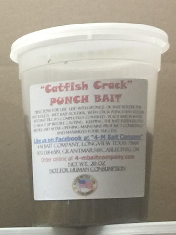 20 ounce Catfish Crack Cheese, Garlic and Blood Punch Bait