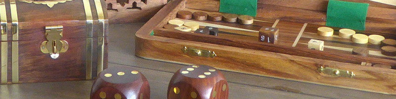 Wooden gaames and boxes
