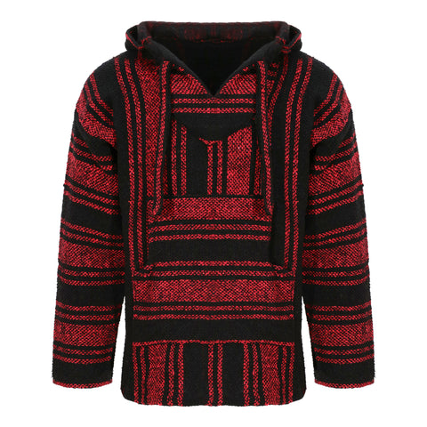 Baja Hoodie - Red and Black