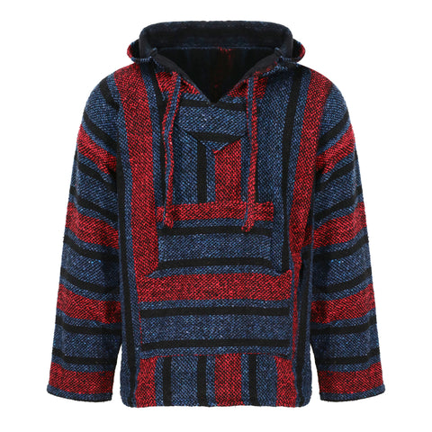 Baja Hoodie - Red, Blue and Black