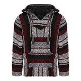 Baja Hoodie - Maroon, Black and White