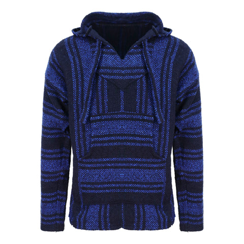 Baja Hoodie - Blue and Black