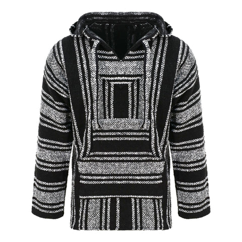 Baja Hoodie - Black and White