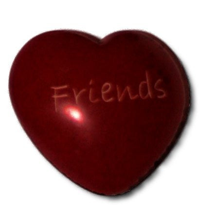 "Soapstone ""Friends"" red heart"
