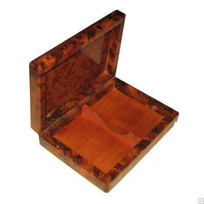 Fair Trade Thuya Wood Card Box/Trinket Box