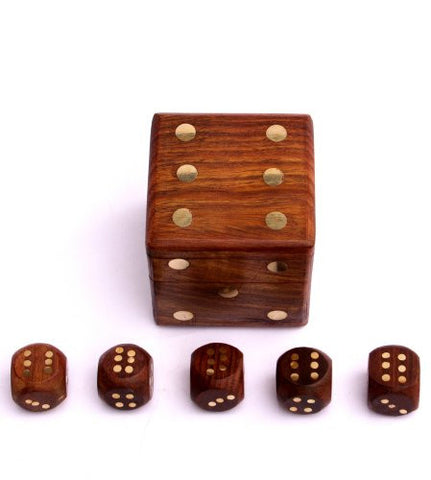 Dice Box With 5 Dice