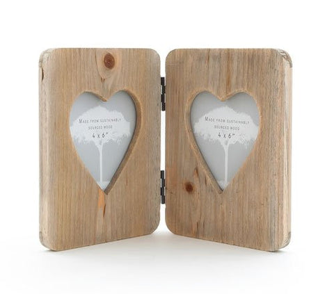 Wooden Heart Rustic Photo Frame