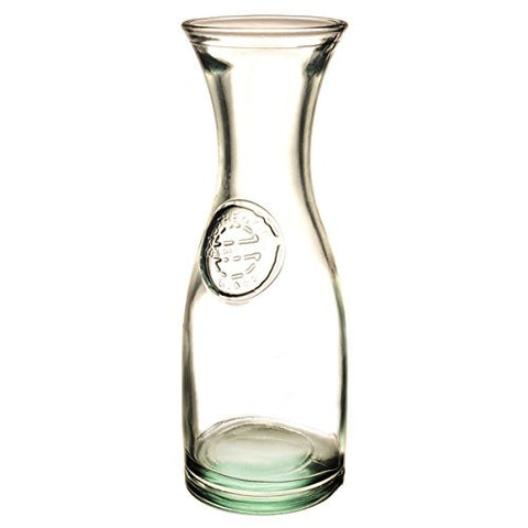 Recycled Glass Carafe with Authentic Stamp.