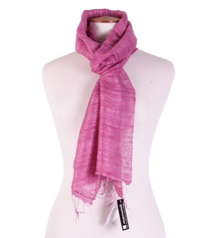 Manumit Soft Rose Raw Silk Scarf