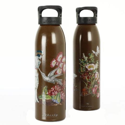 """  Vintage Decoupage"" Design Recycled Aluminium Drinks Bottle"