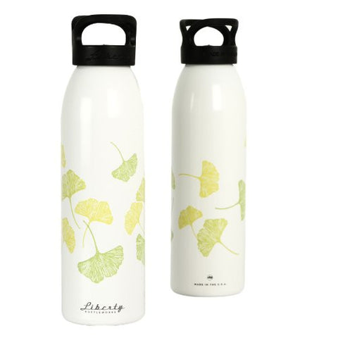 """Ginko Leaves"" Design Recycled Aluminium Drinks Bottle"