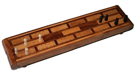 Mixed Wood Cribbage Board