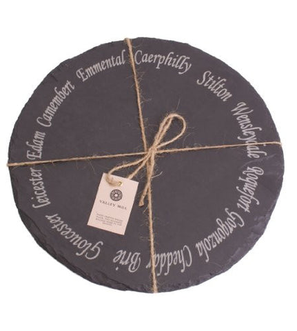 Round Welsh Slate Cheese Board
