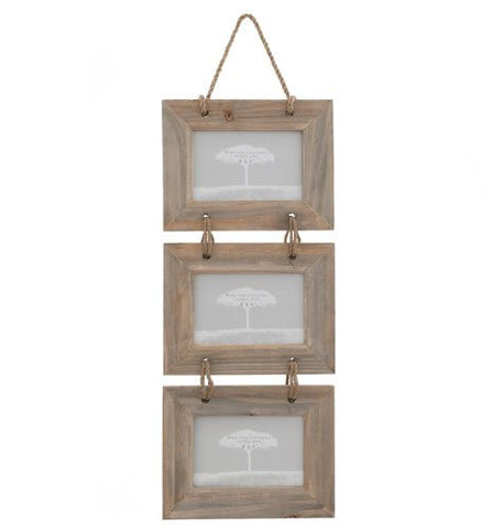 Triple Hanging Rustic Photo Frame