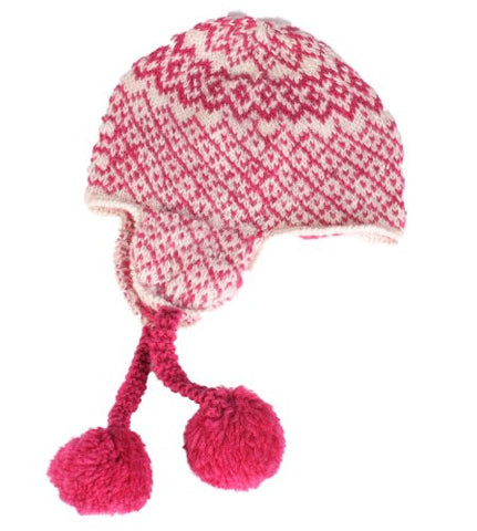 People Tree Check Pom Pom Hat