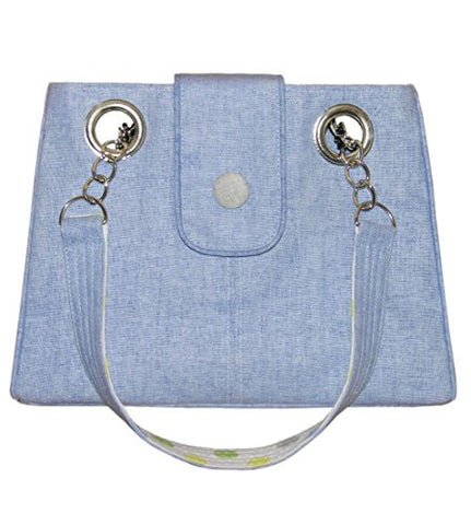 Earth Squared Blue Linen Emily Bag
