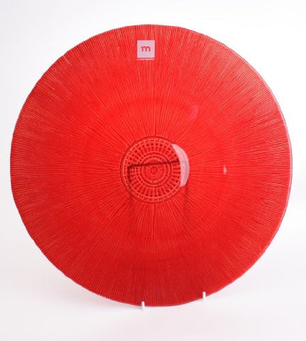 Red Recycled Glass Charger Plate