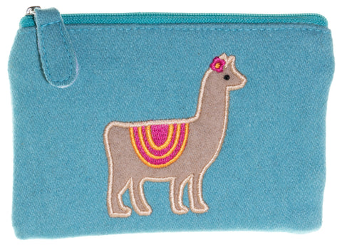 Llama Fair Trade Felt Purse