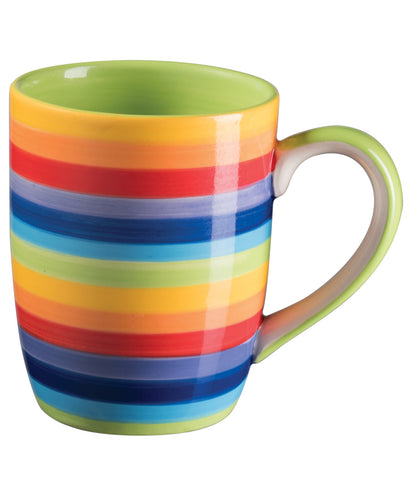 Horizontal Rainbow striped coffee mug