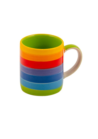 single rainbow espresso mug