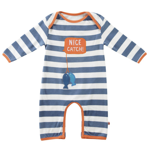 Piccalilly 'Nice Catch' Embroidered Playsuit