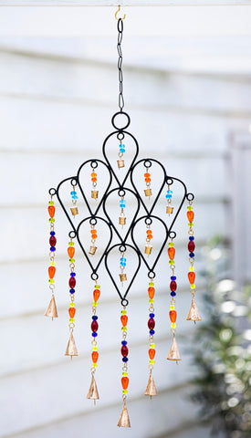 Colourful Bells and Beads Windchime