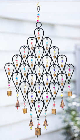 Large Bells and Beads Windchime
