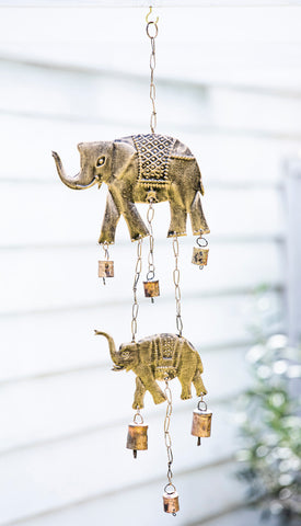 Elephant with Bells Windchime