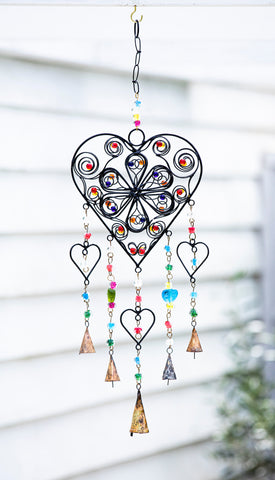 Heart and Flower Windchime