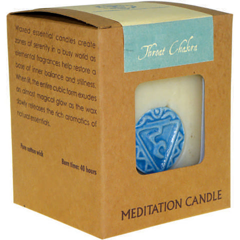 Chakra Meditation Soy Candle (Throat)