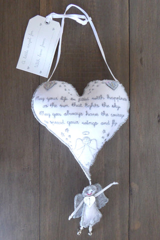 Angel 'Life Blessing' Hanging Heart
