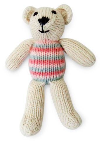 Teddy Bear with Striped Top