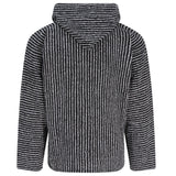 Baja Hoodie - Narrow Black and White Stripe