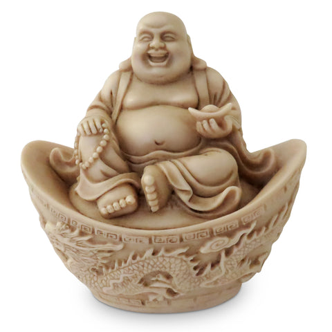 Laughing Buddha in a Dragon Boat