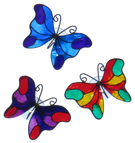 Set of 3 Butterfly Suncatchers