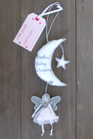 'Ssh Fairy Sleeping' Hanging Moon
