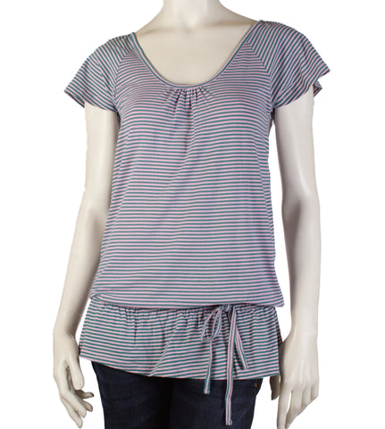 Giggle Kitty Stripe Top (Pink)