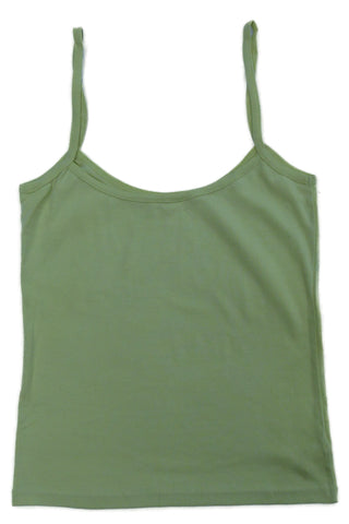 Gossypium Organic Cotton Vest Top (pink/green/black/white available)