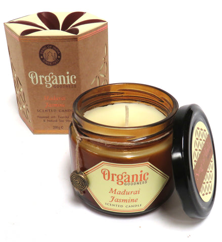Organic Scented Soy Candle (Jasmine)
