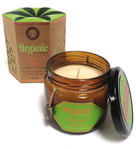 Organic Scented Soy Candle (Patchouli and Vanilla)