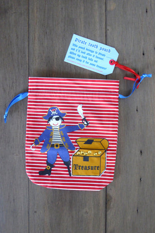 Pirate Swag Bag / Tooth Pouch for Tooth Fairy