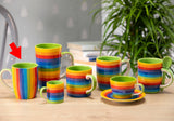 Rainbow Vertical Stripe Mug