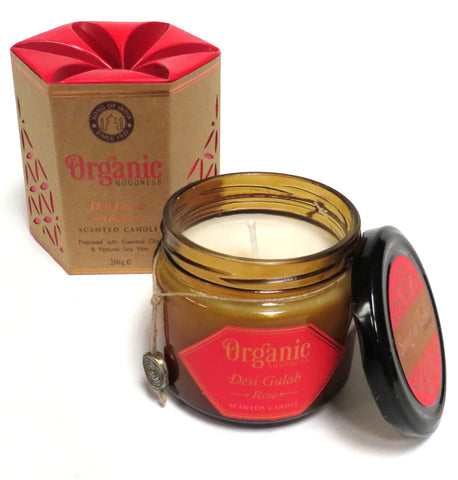 Organic Scented Soy Candle (Rose)