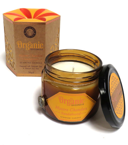 Organic Scented Soy Candle (Sandalwood)