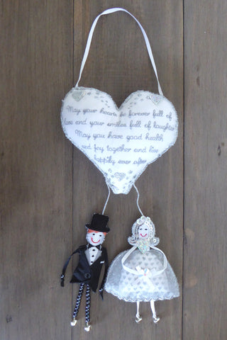 'Wedding Life Blessing' Hanging Heart