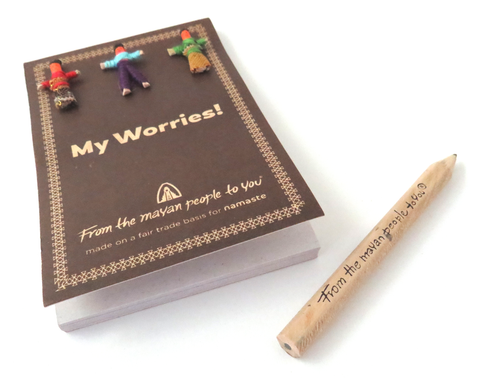 """My Worries"" Notebook with Pencil"