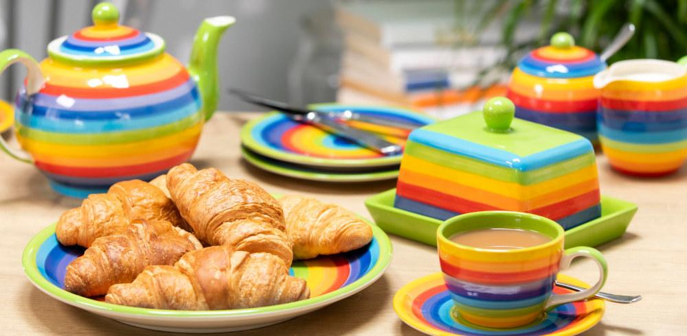 Rainbow Cermaic Tableware Breakfast