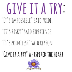 Give it a Try - whispered the heart